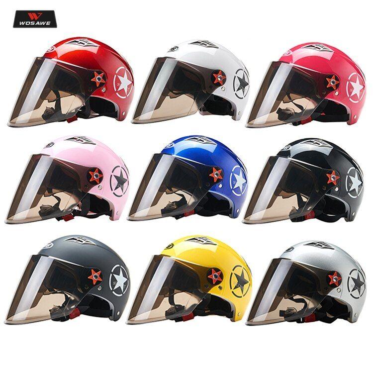 Motorcycle Helmet Women mtb Bicycle Safety Hat Men Scooter Moto Motorbike Motocr…