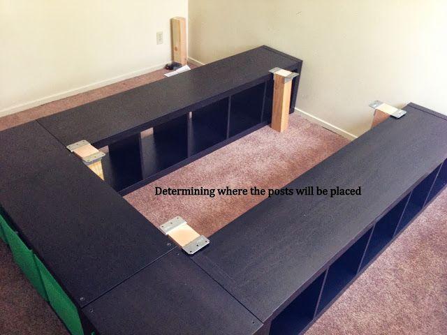 Expedit Queen Platform Bed Ikea Hackers Home Diy Bedroom Diy