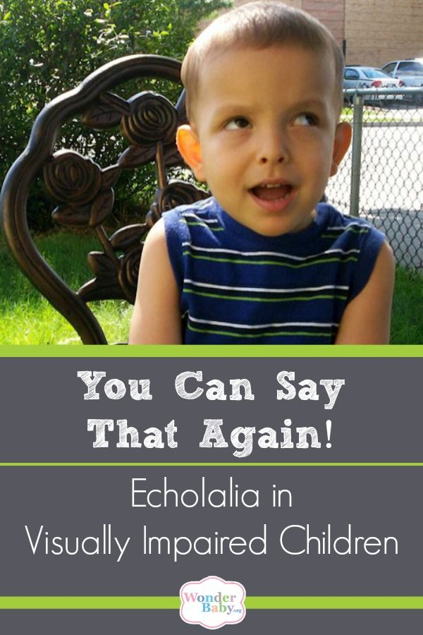 you can say that again echolalia in visually impaired