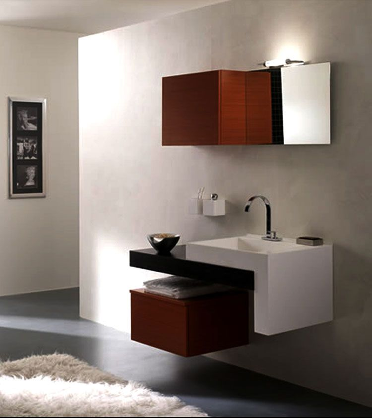 mobile bagno sospeso design moderno n. 03 | bagni di design ... - Arredo Bagno Mobili Sospesi