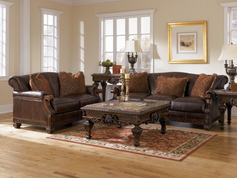 Oakmere Truffle ALL Leather Sofa Collection