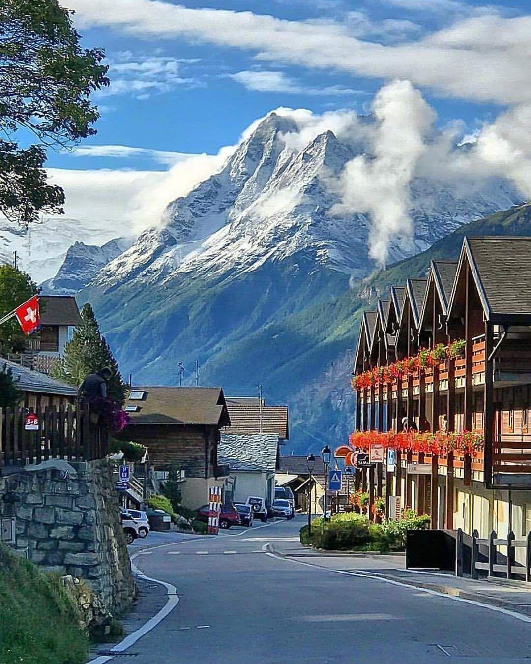 Beautiful Mountain Scenery In Switzerland.