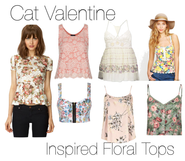 Inspired Floral Tops For Ariana Grande As Cat Valentine For The TV Show Sam  U0026 Cat