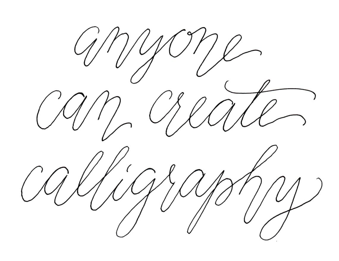 A Fake Calligraphy Tutorial