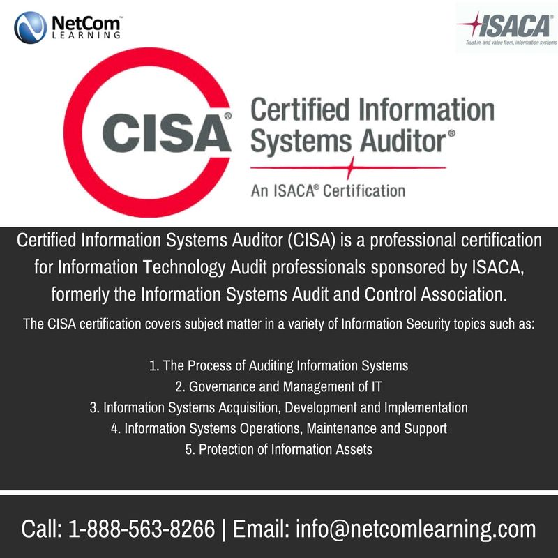 Cisa Certification Programs And Courses Training Certifications