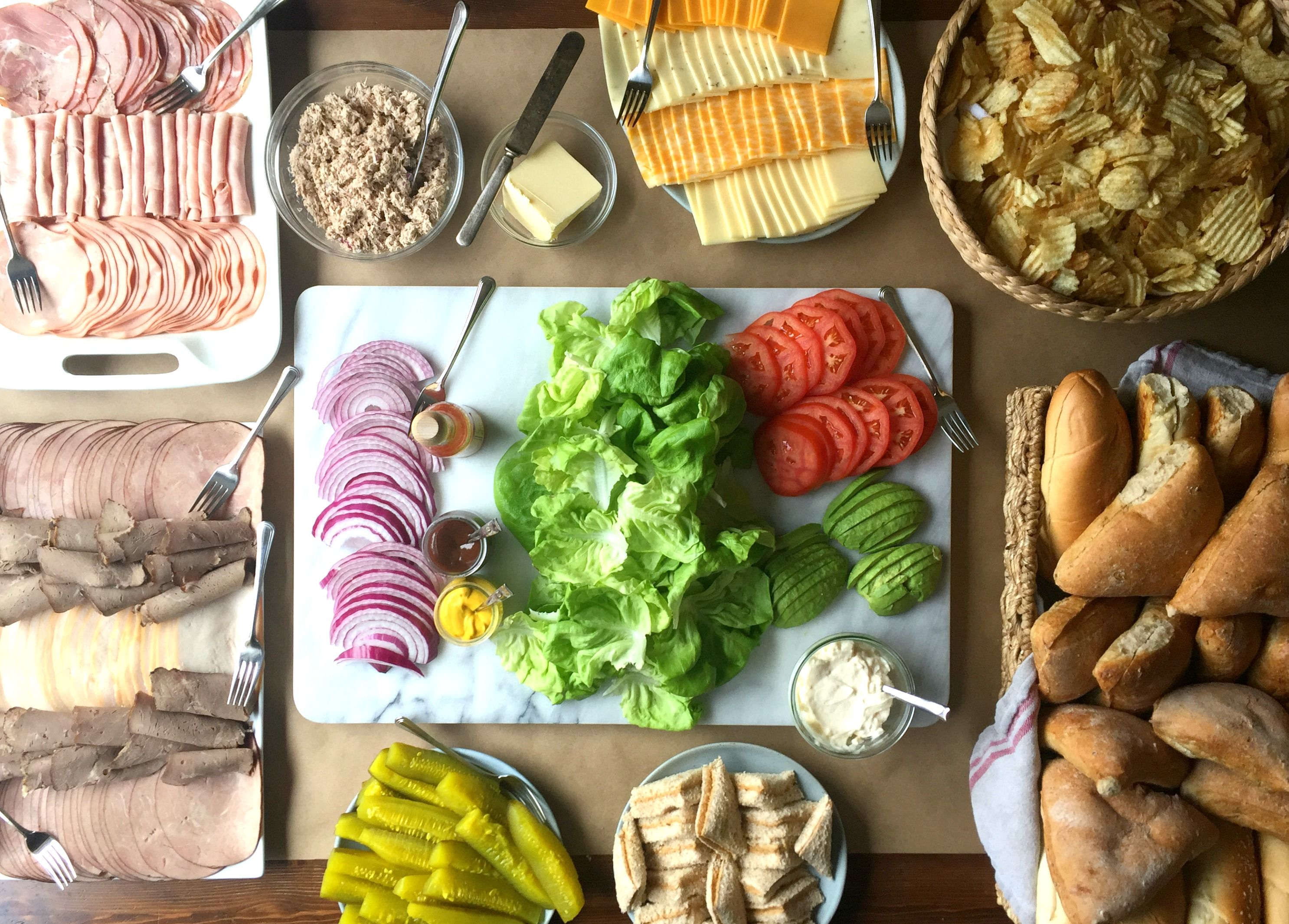 how to create a build your own sandwich bar for a crowd recipes to rh pinterest com