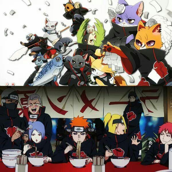 Neko Akatsuki Akatsuki Naruto
