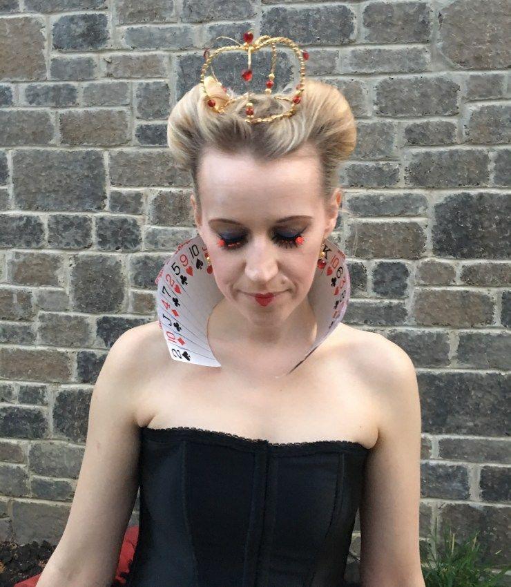 Diy Queen Of Hearts Halloween Costume Video Bright Shadows Queen Of Hearts Costume Queen Of Hearts Halloween Costume Heart Costume