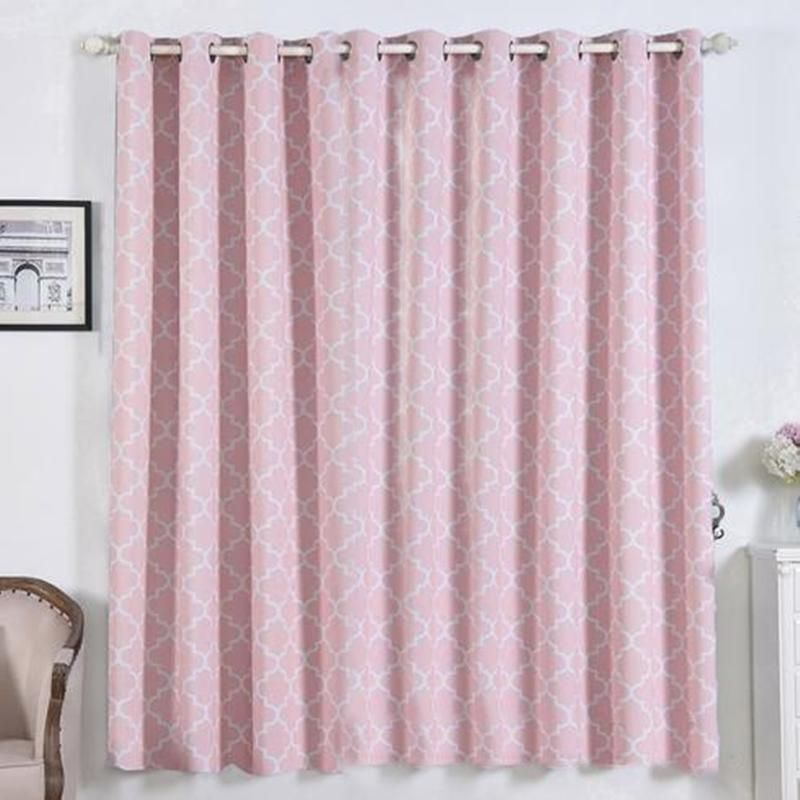 Lattice Pattern Curtains Pack Of 2 Blush And White Trellis