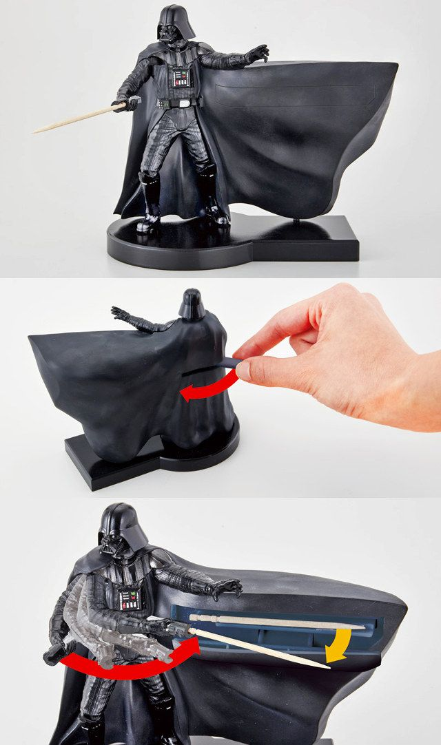 Cooler Than It Sounds  This Animated Darth Vader Toothpick Dispenser ... 69910bbce7382