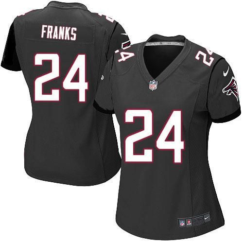 Nike NFL Atlanta Falcons #24 Dominique Franks Limited Black Alternate Women  Jersey Sale