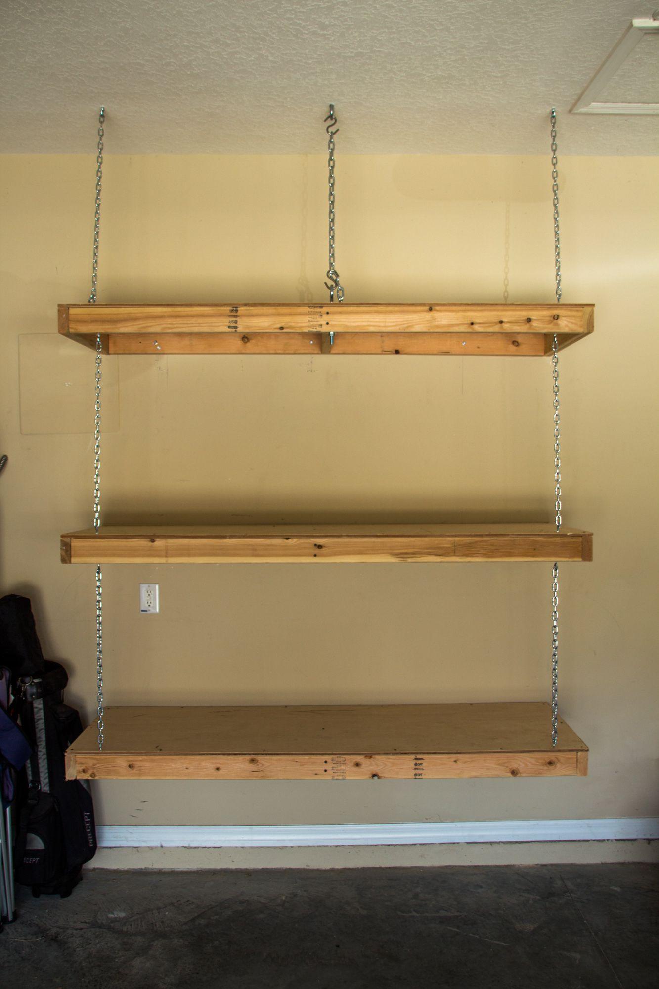 Hanging Garage Shelves Eye Bolt In Ceiling Goes Through Ceiling