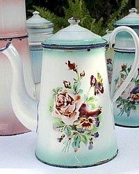 Old enamelware coffee pot