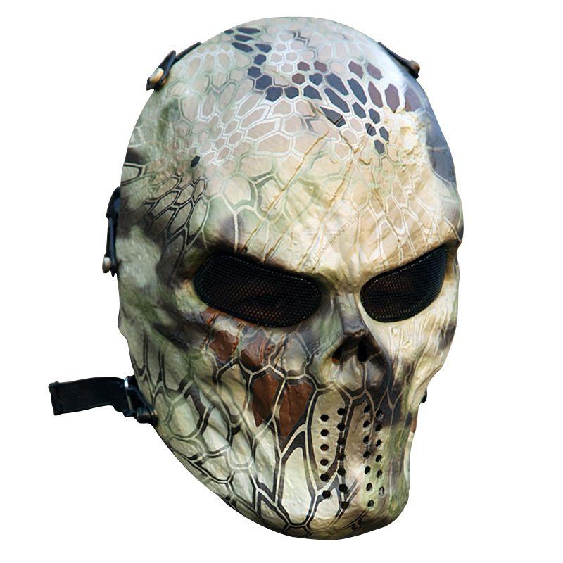 Typhon Camouflage Chasse Accessoires Masques Fantôme Tactique Militaire Extérieure CS Wargame Paintball Airsoft Crâne Plein Visage Masque