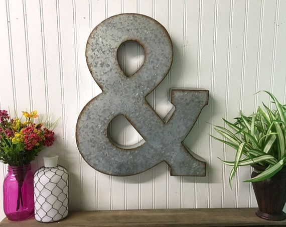 Metal Letters Ampersand Large By Theshabbystore On Etsy Metal