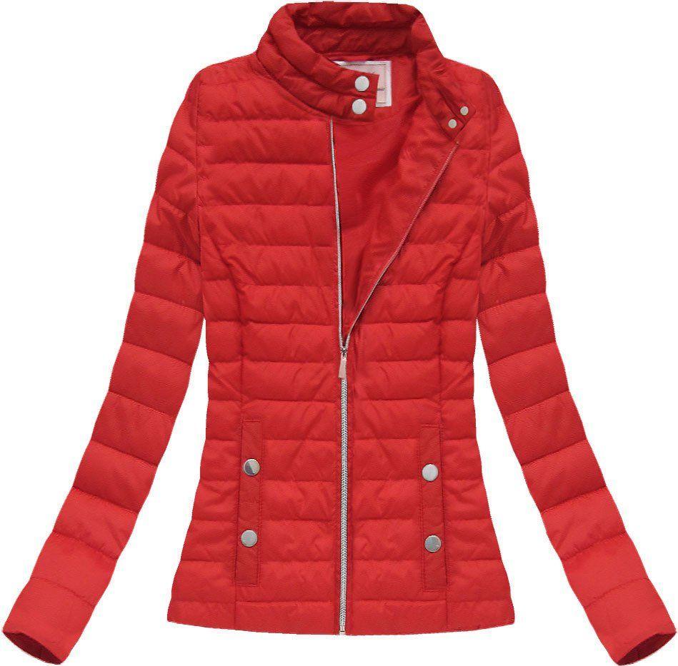 Dámska prechodná červená bunda.  a779d0779b