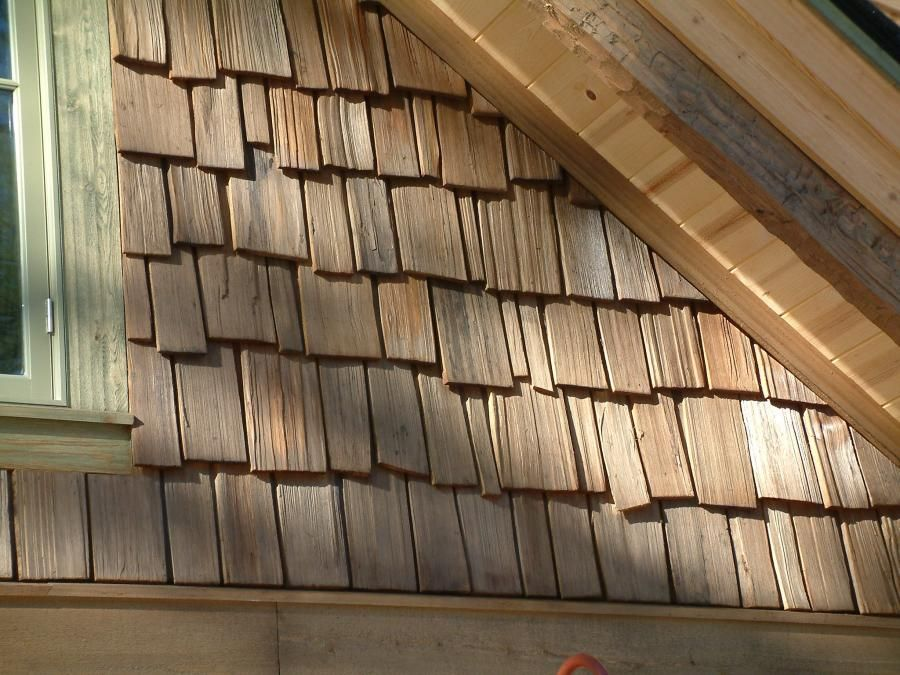 Hand Split Cedar Shakes Gable End Custom Timber Log