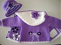 Detské oblečenie - Bledučko fialový svetrík - 1262276