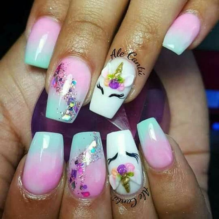 10 Unicorn Nails That Are Truly Magical Unicorn Nails Designs Crazy Nails Unicorn Nails