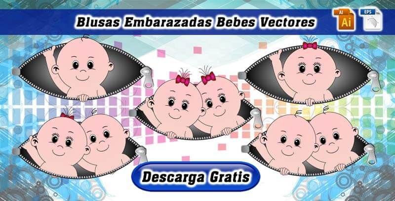 c7518027faff1 Descarga blusas embarazada bebe asomandose free o gratis vectores