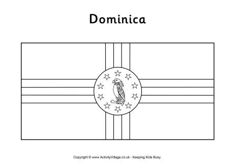 Dominica Flag Colouring Page Flag Coloring Pages Coloring Pages