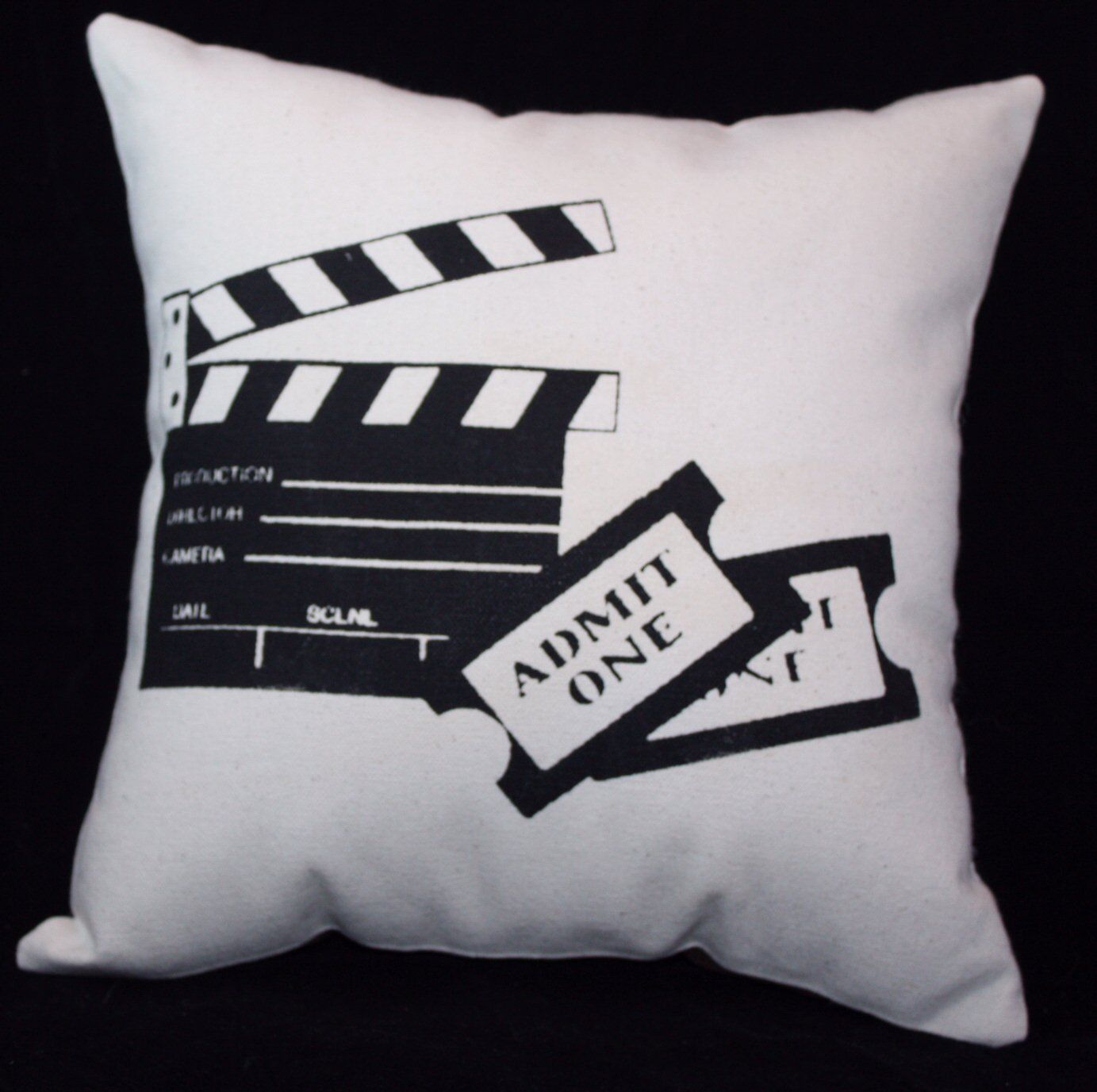 TICKETS PILLOW Great Movie Theater Home Decor  HOME