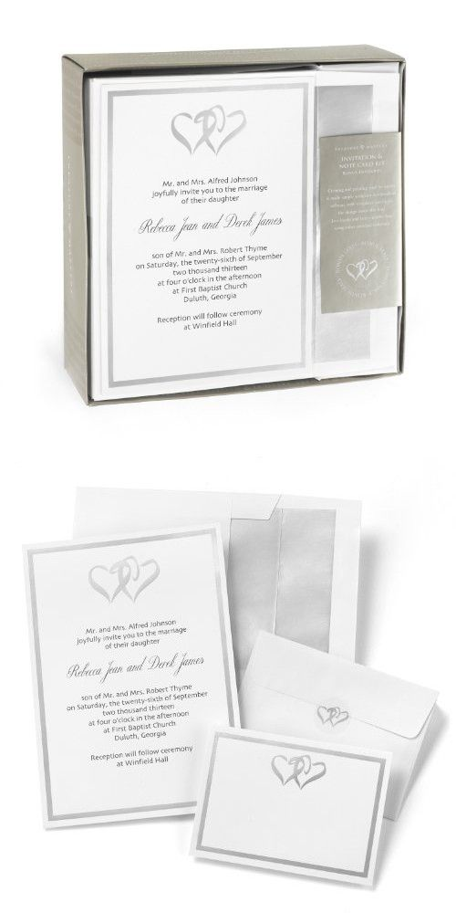 Hortense B. Hewitt Wedding Accessories Silver Double Heart ...