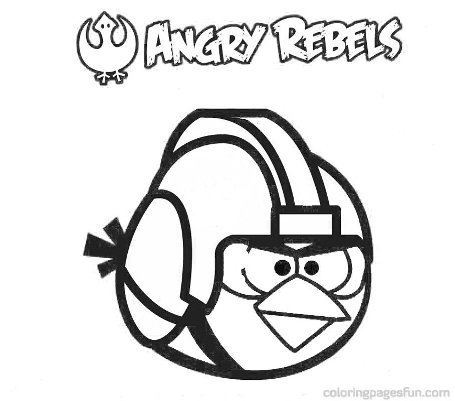 Angry Birds Star Wars Coloring Pages 11 | DIY | Pinterest | Angry birds