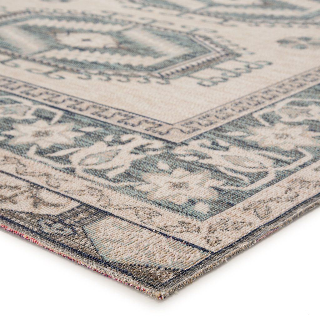 Miner Indoor Outdoor Medallion Light Teal Gray Area Rug Burke Decor In 2020 Outdoor Rugs Rugs Colorful Rugs