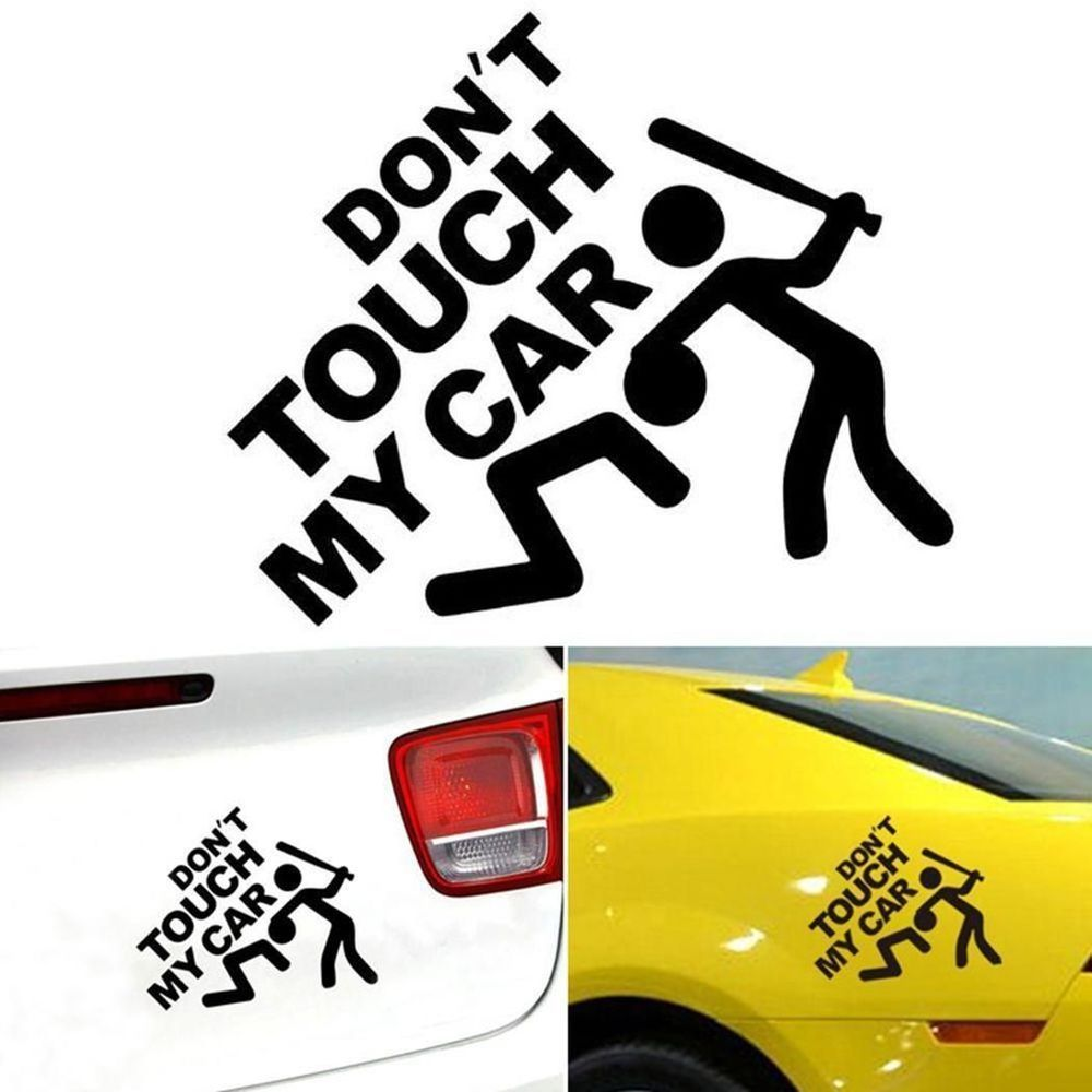 Funny car sticker dont touch my car pattern sticker car bumper window wall decal unbranded