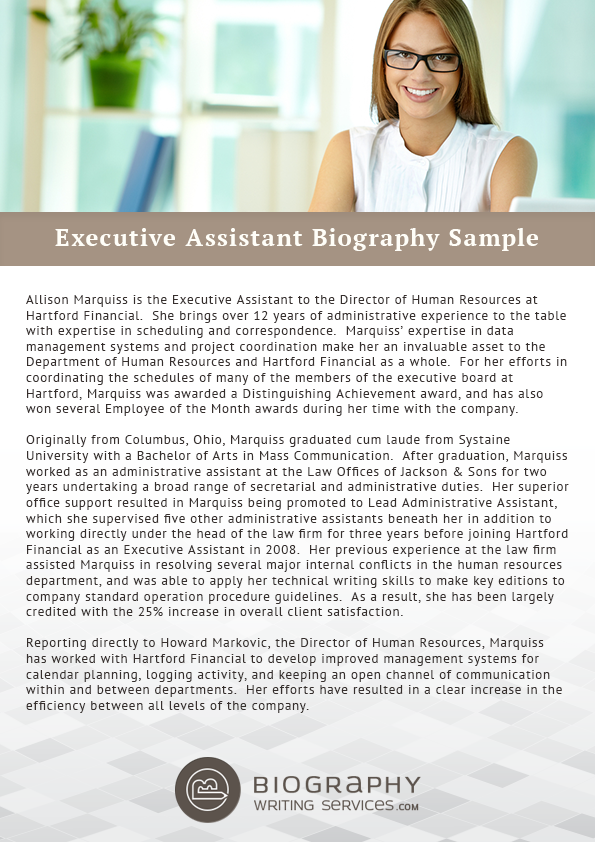 Httpbiographywritingservicesgood executive assistant simple past biographies thecheapjerseys Image collections