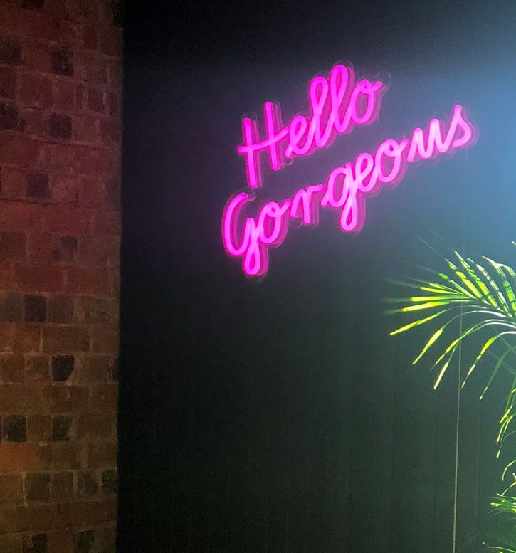 Hello Gorgeous Led Neon Sign Neon Signs Neon Wall Art Led Neon Signs