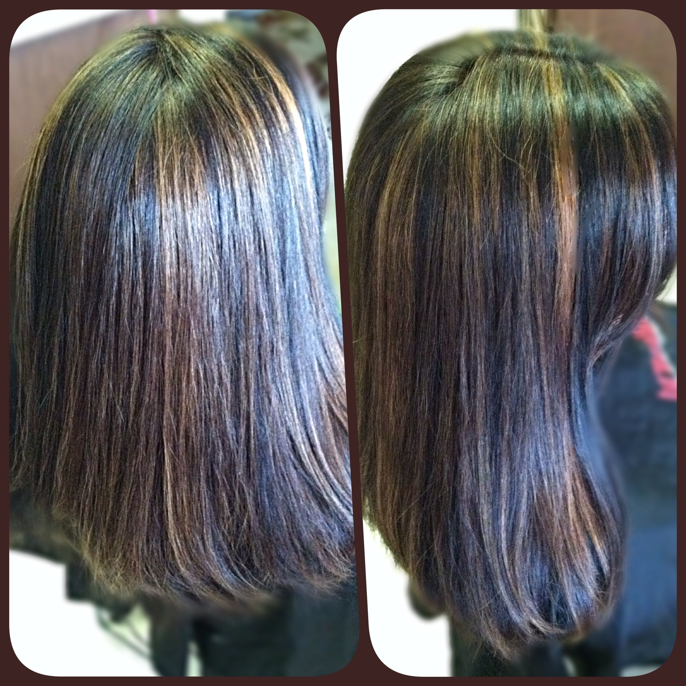 Black Hair Color With Golden Brown