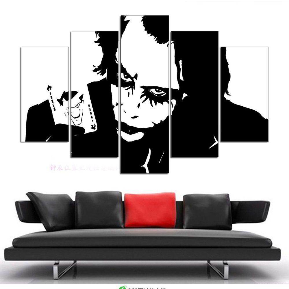 Bike stickers design joker - Not Framed Canvas Wall Art Pictures Prints Home Decor Batman Joker Heath Ledger Modernism