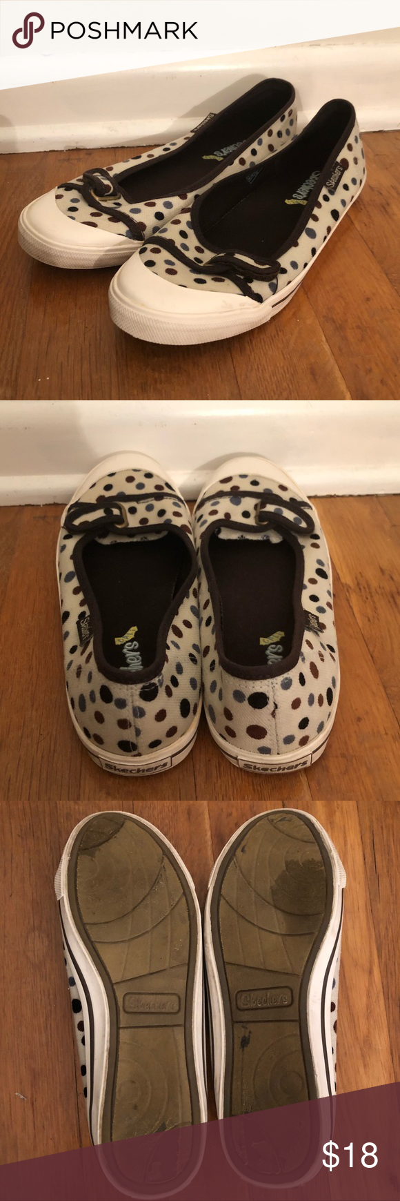 Skechers Cali Slip On Flats Size 7 5 With Images Polka Dot