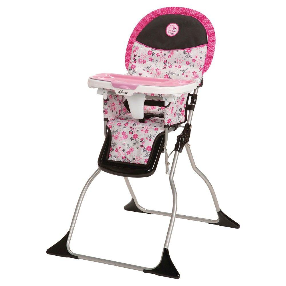 Disney Simple Fold Plus High Chair - Minnie Garden Delight, Pink