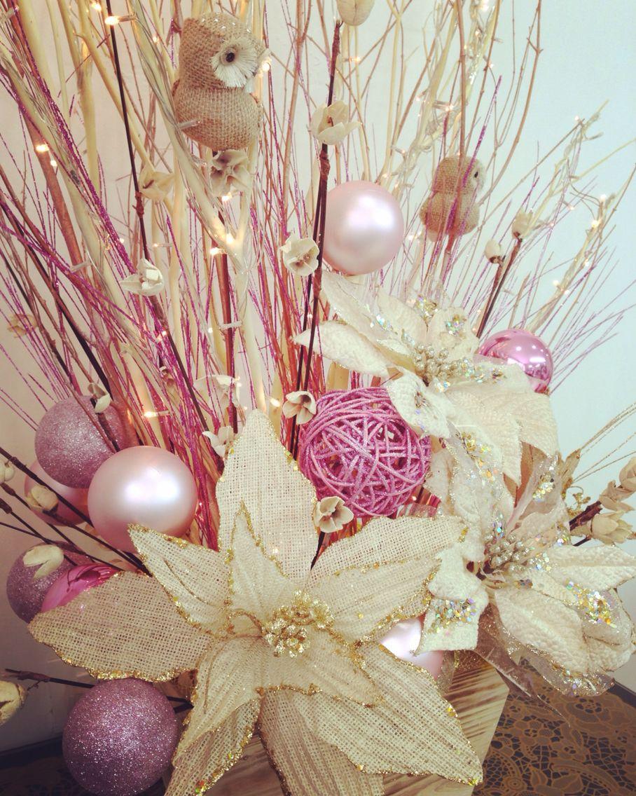 Navidad rosa vintage