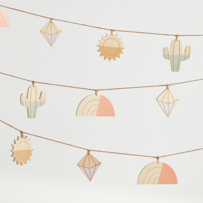 Icon Wood Garland + Reviews | Crate and Barrel