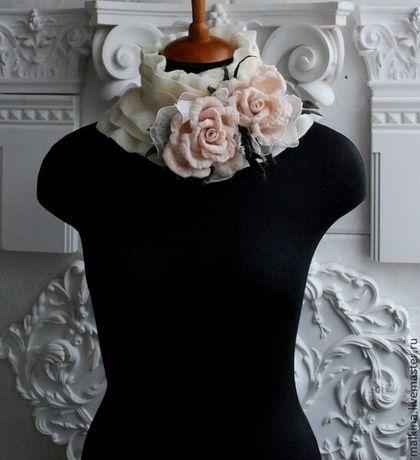Photo of Handmade collars. White collar …