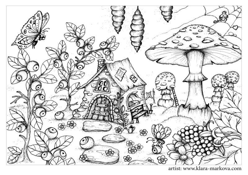 Pin de Morgan Armstrong en Coloring pages | Pinterest | Hongos ...