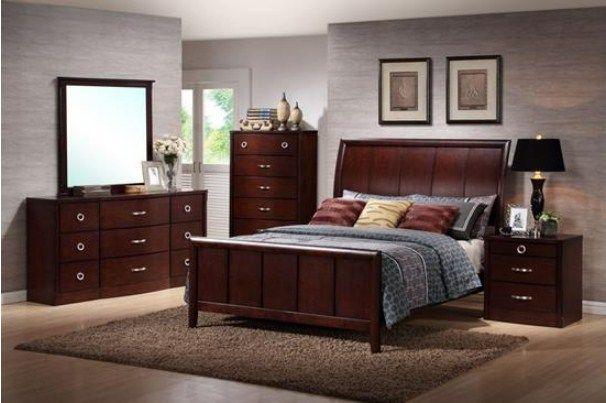 Baxton Studio Argonne 5 Piece Wooden Modern Bedroom Set