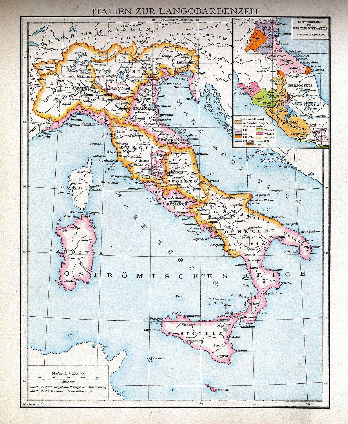 Lombards Wikipedia Italien Karte Norditalien Italien