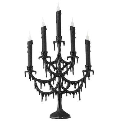 raz black candelabra halloween decoration black made of acrylic measures 22 x 135 requires - Raz Halloween Decorations