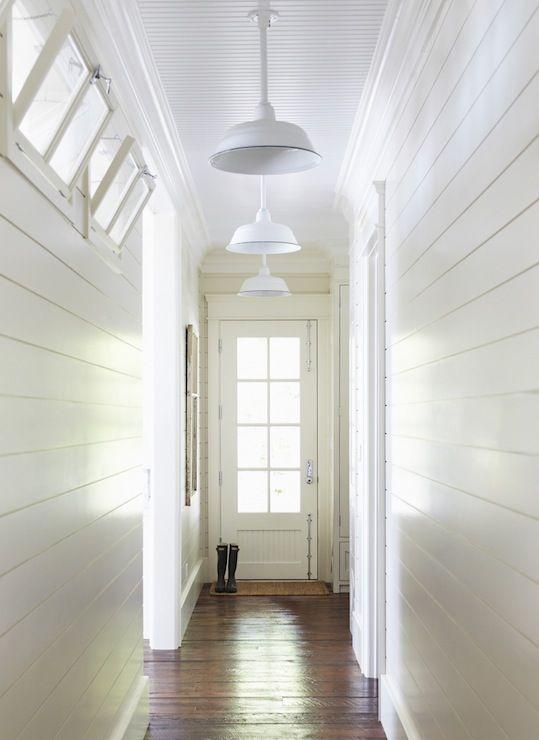Beadboard Ceiling Cottage Entrance Foyer Muskoka Living Ship Lap Walls Foyer Lighting Farmhouse Foyer