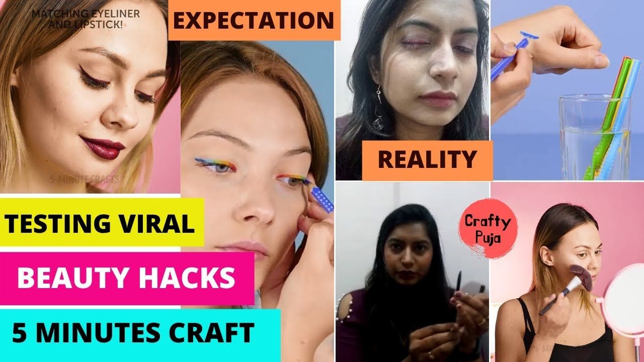 Testing Viral Beauty Hacks By 5 Minute Crafts Craftypuja
