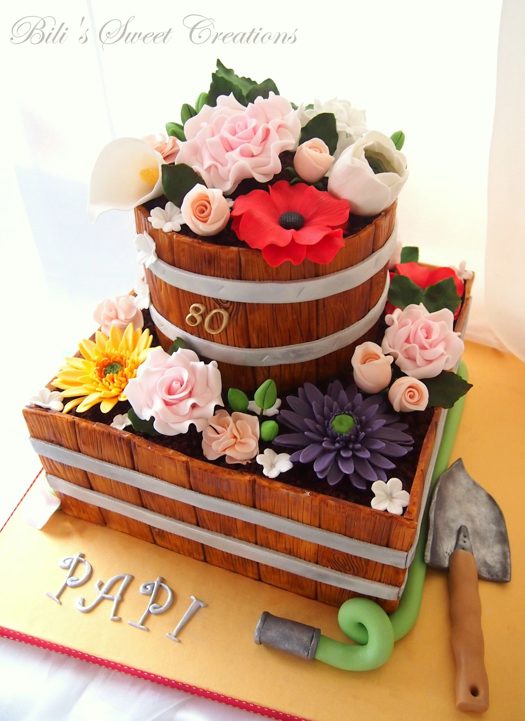 Flower Pot Cake With Images Flower Pot Cake Pot Cakes Cake