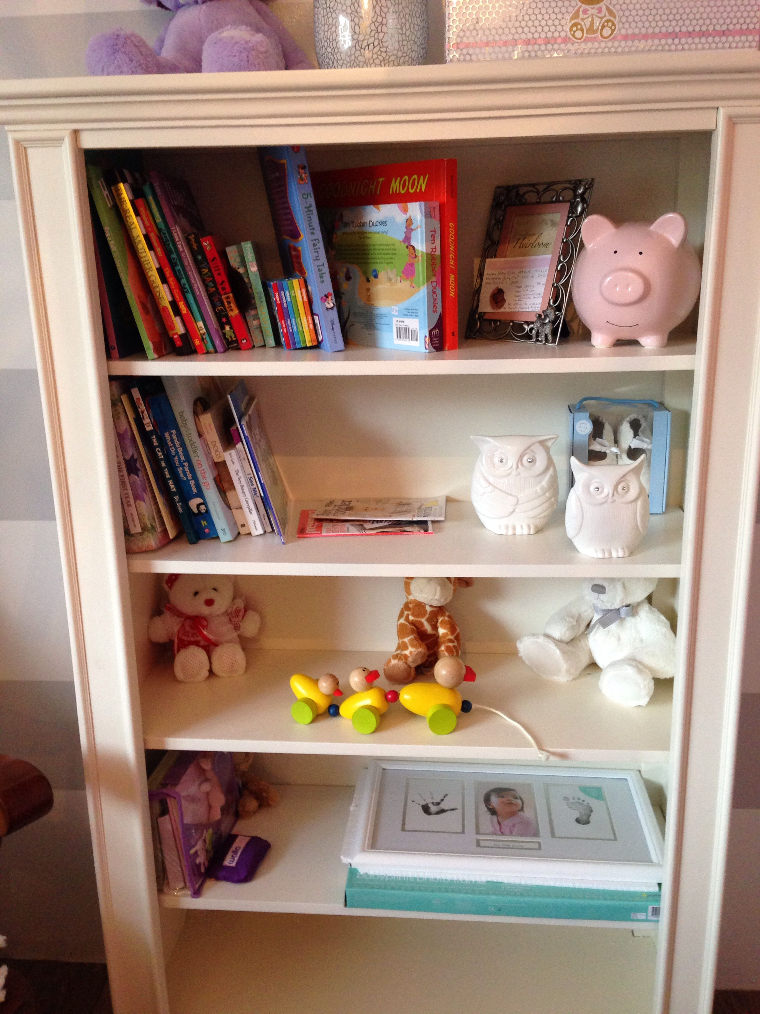 Pin on Nursery Inspiration  Pink And Grey Bookcase