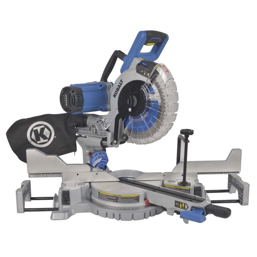Kobalt 10 In 15 Amp Dual Bevel Sliding Laser Compound Miter Saw Compound Mitre Saw Sliding Compound Miter Saw Miter Saw