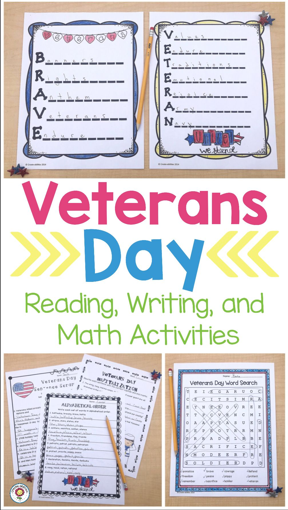 Veterans Day Reading and Writing Activities - Use this resource with your  2nd [ 1784 x 1007 Pixel ]
