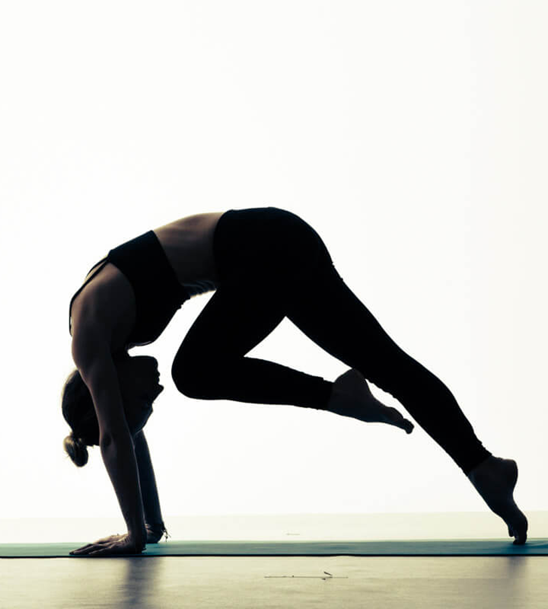 Photo of Core Yoga. Plank Variation.